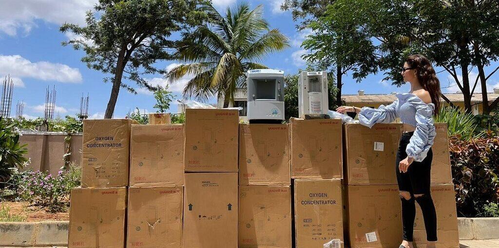 Urvashi Rautela Donates total 47 Oxygen Concentrators