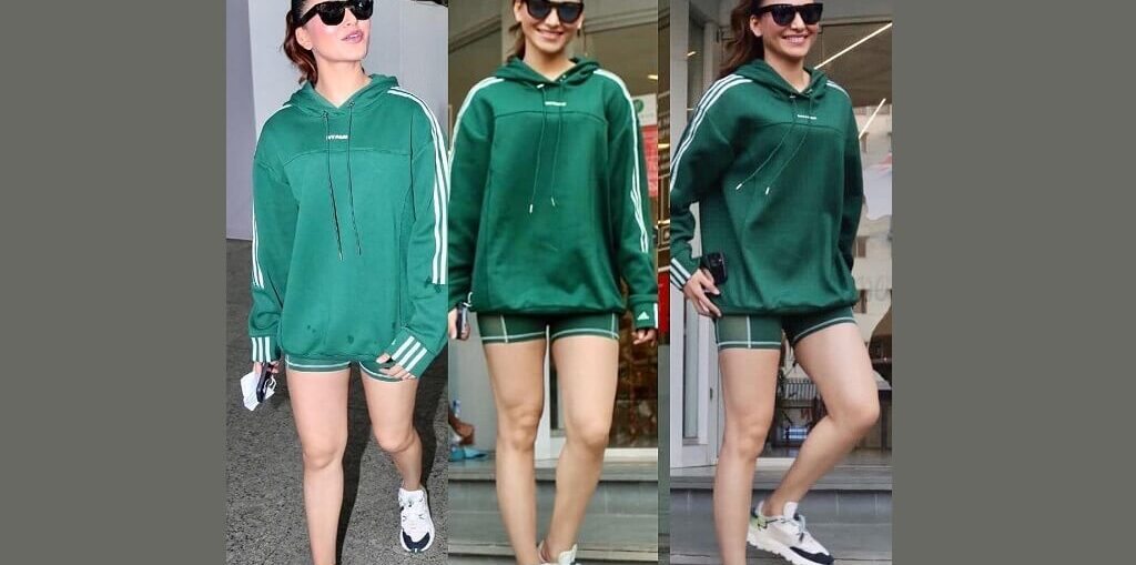 Urvashi Rautela working out in the gym